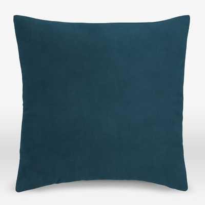 "Upholstery Fabric Pillow Cover, Square, 20""x20"", Performance Velvet, Lagoon - West Elm"