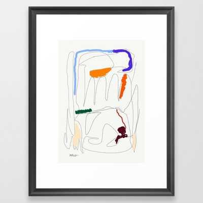 Sigh Framed Art Print by mmvce - Society6