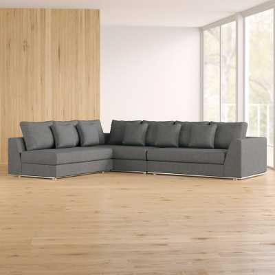 "Moore Living 120.5"" Modular Sectional reversible chaise - Wayfair"