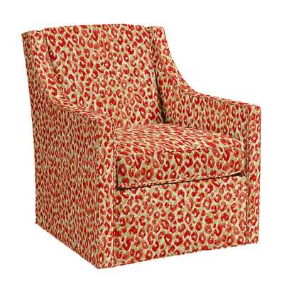 Carlyle Swivel Chair Sloane Coral - Ballard Designs