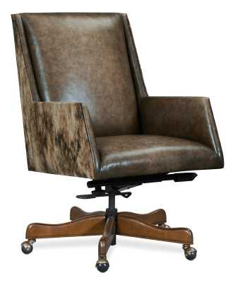 Rives Genuine Leather Executive Chair - Wayfair