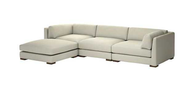 Piazza Snow 4-Piece Modular Sectional Sofa - CB2