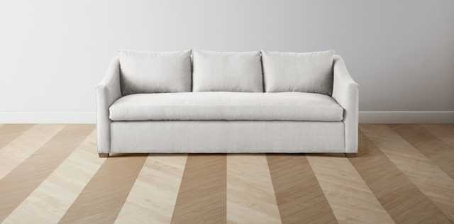 """The Sullivan - Oyster, Washed Oak- L Sectional - Right: 125"""" / Left: 98"""" - Maiden Home"""
