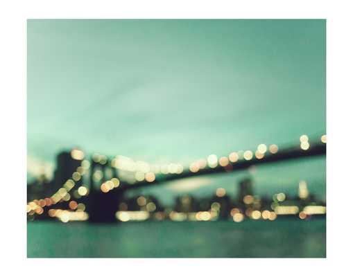 Brooklyn Bridge Lights - Minted