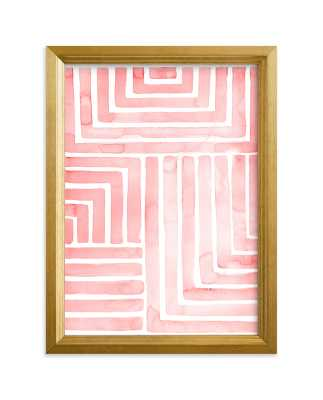 """Hard & Soft  Limited Edition Art,5""""x7"""", Gilded Wood Frame, Standard Plexi & Materials, White Border - Minted"""