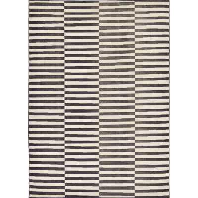 Kyree Striped Ivory/Black Area Rug - Wayfair