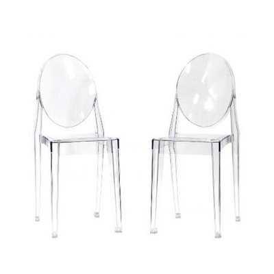Hecker Crystal Dining Chair (Set of 2) - Wayfair