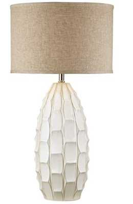 Cosgrove Oval White Ceramic Table Lamp with USB Workstation Base - Style # 68V64 - Lamps Plus