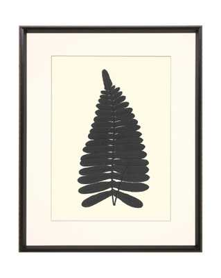 LEAF SILHOUETTE 3 Framed Art - McGee & Co.