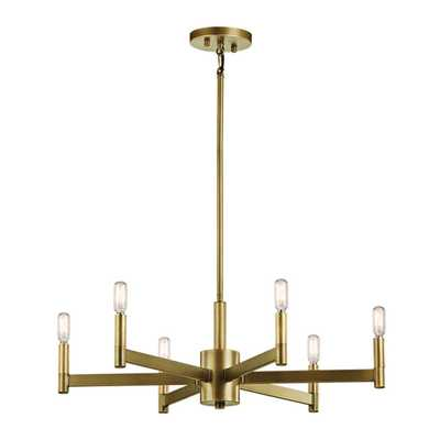 SLEEKLY MODERN SQUARED CHANDELIER - 6 LIGHT - Shades of Light