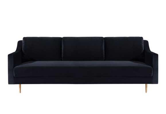 River-Black-Velvet-Sofa - Maren Home