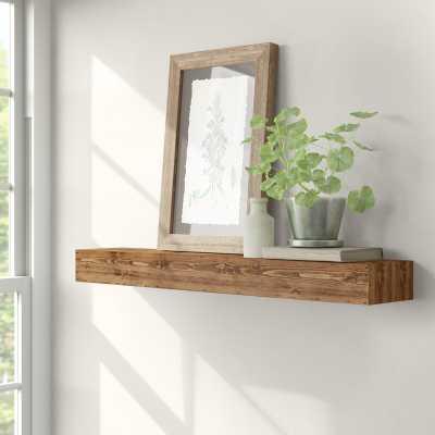 Montserrat Floating Shelf Solid Wood Handmade Rustic Style Wall Shelf - Birch Lane