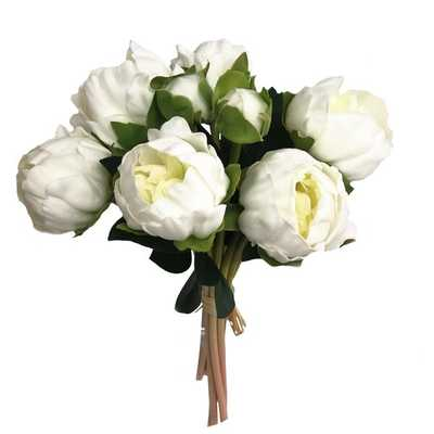 Real Touch Bouquet Peony Stem (Set of 6) - Wayfair