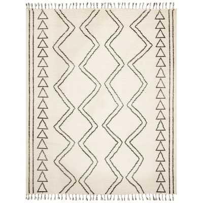 Safavieh Hand-knotted Kenya Audrina Southwestern Tribal Wool Rug - 8' x 10' - Ivory/Black - Overstock