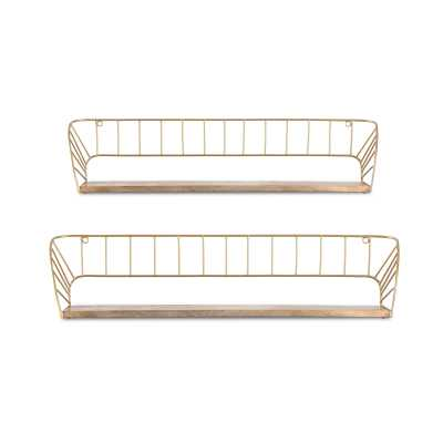 Trista Wall Shelf- set of 2 - Wayfair