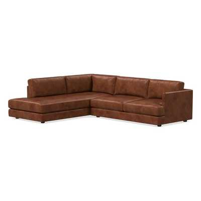 Haven Leather Left 2-Piece Terminal Chaise Sectional - West Elm