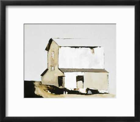 "White Barn - 18"" x 16"" Chelsea Black Frame - art.com"