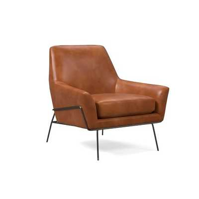 Lucas Wire Leather Chair - West Elm