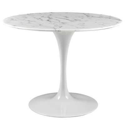 Julien Artificial Marble Round Dining Table - AllModern