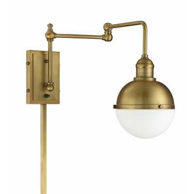 Gillenwater 1-Light Swing Arm Lamp - Brass - Wayfair