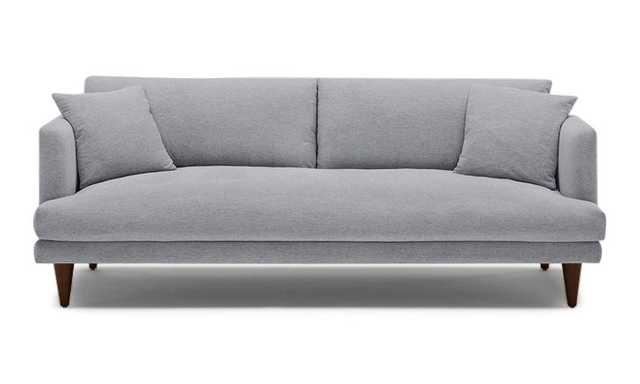 Gray Lewis Mid Century Modern Sofa - Essence Ash - Mocha - Cylinder Legs (Quick Ship) - Joybird
