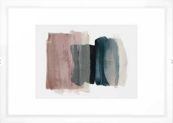 minimalism 1 Framed Art Print - Vector White - 15 x 21 - Society6