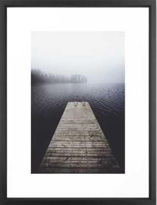 Fading into the mist Framed Art Print, Vector Black, 20 X 26 - Society6