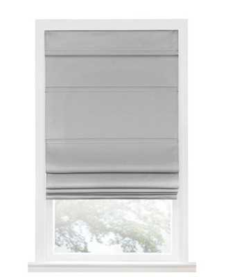 Achim Grey Cordless Blackout Window Roman Shade - 31 in. W x 64 in. L - Home Depot