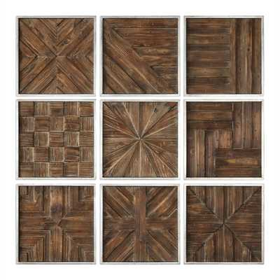 Bryndle Squares Metal Wall Decor S/9 - Hudsonhill Foundry