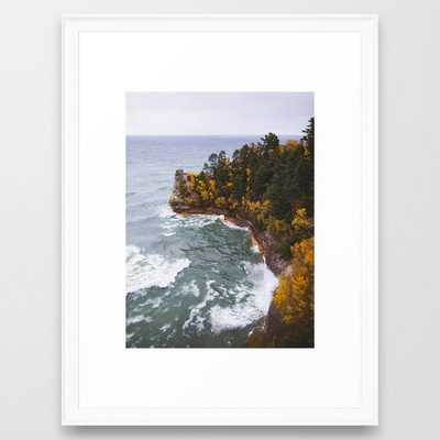 Miners Castle   Pictured Rocks National Lakeshore, Michigan - Framed Art Print - Society6