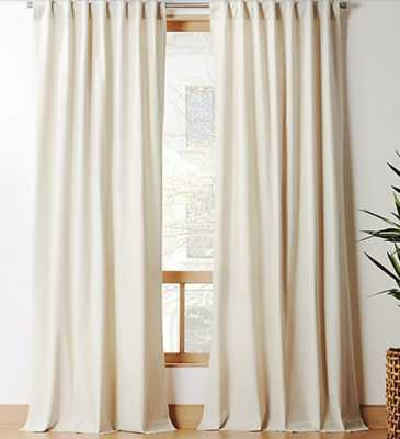 """Natural Tan Basketweave II Curtain Panel 48""""x96"""""" - CB2"