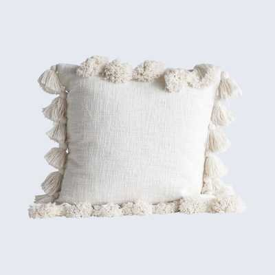 Interlude Luxurious Square Cotton Pillow Cover and Insert - Wayfair