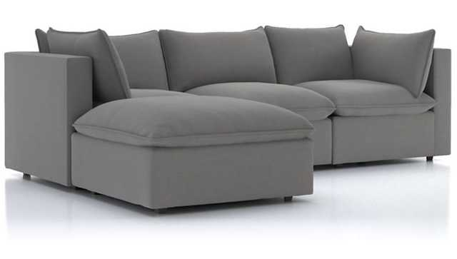 Lotus 4-Piece Reversible Sectional with Ottoman - Crate and Barrel