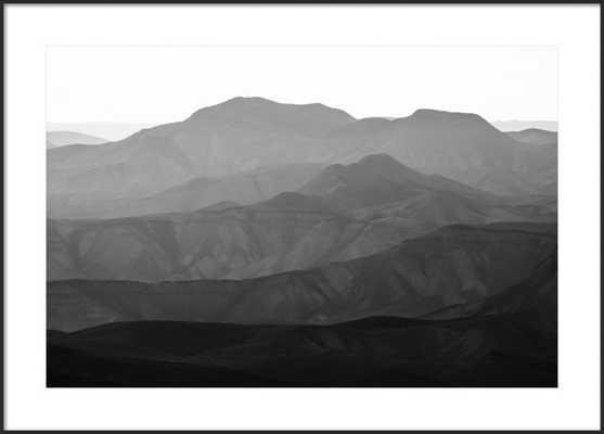 """Mountains of the Judean Desert by Tal Paz-Fridman- 40'' x 28'' (FINAL FRAMED SIZE: 42x30"""")- Matte Black Metal Frame- With Matte - Artfully Walls"""