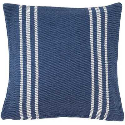 CAPE STRIPE NAVY/WHITE INDOOR/OUTDOOR PILLOW - Dash and Albert