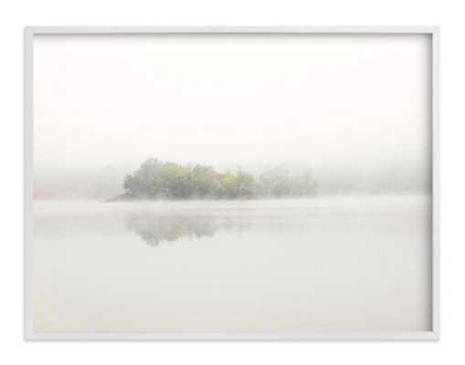 """The Island - 40"""" x 30"""", white wood frame - Minted"""