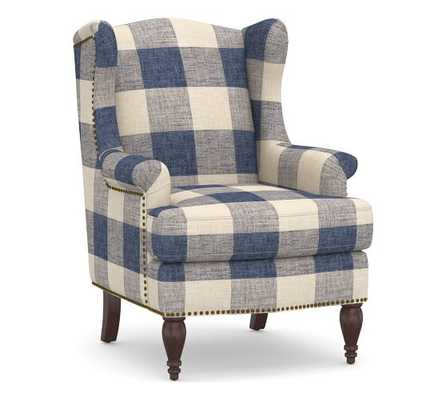 SoMa Delancey Petite Wingback Upholstered Armchair - Pottery Barn