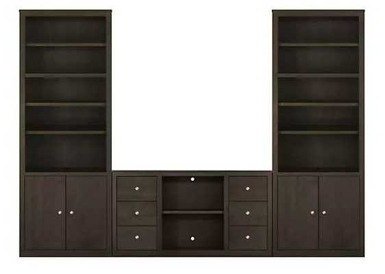 Woodwind Media Cabinets Maple with charcoal stain - Room & Board