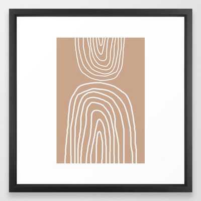 Abstract Rainbow, Framed Art Print - Society6