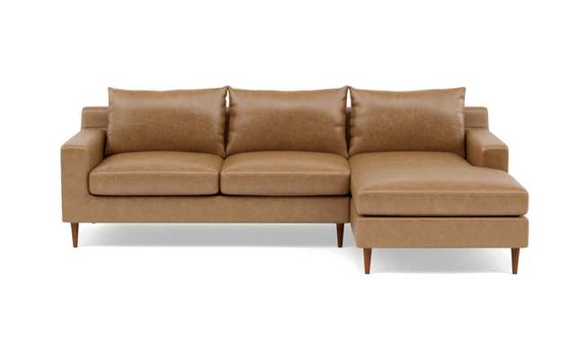 SLOAN LEATHER Leather Sectional Sofa with Right Chaise - Interior Define