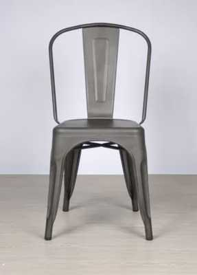 Outdoor Metal Dining Chair, Stackable, Set of 2 - Wayfair