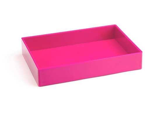 Pink Medium Accessory Tray - Poppin