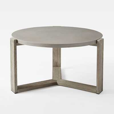 Concrete Outdoor Coffee Table - Weathered Cafe - West Elm