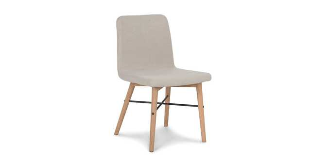 Kissa Flax Beige and Light Oak dining chair (set of 2) - Article
