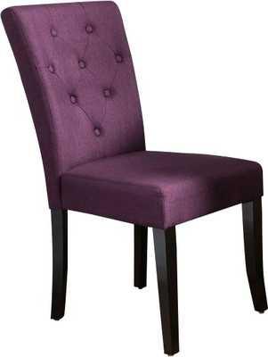 Keiper Upholstered Dining Chair, set of 2 - deep purple - Wayfair