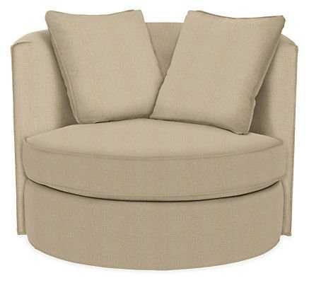 "Eos 42"" Swivel Chair in Tatum Natural - Room & Board"