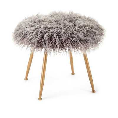 Vadden Fuzzy Stool - Mercer Collection