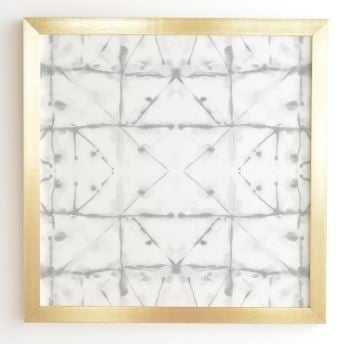 MANIFEST GREY Gold Framed Wall Art By Jacqueline Maldonado - Wander Print Co.