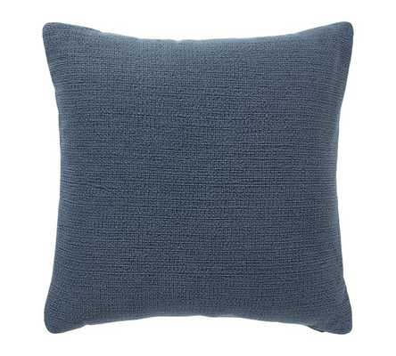 Stonewashed Slub Cotton Pillow - Midnight / Polyester fill - Pottery Barn