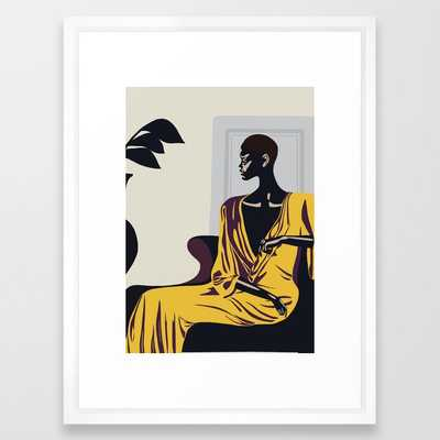Yellow robe Framed Art Print - Society6